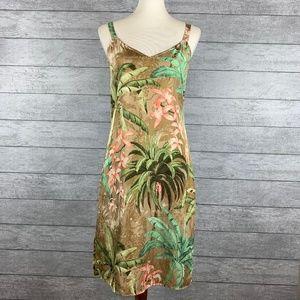 Tommy Bahama Light Silk Floral Slip Dress Size 8